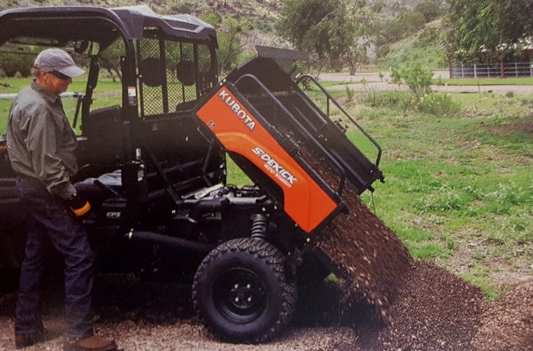Kubota's first high speed gas RTV- The Sidekick | Apple Farm