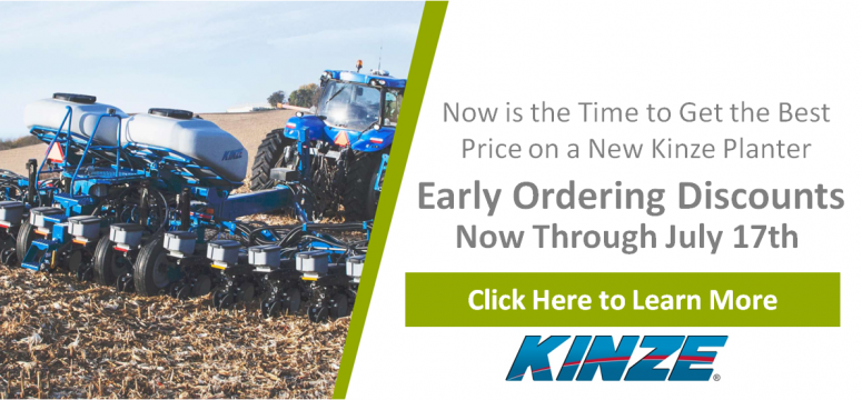 Kinze Early Ordering Discounts