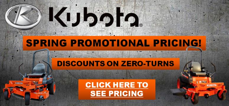 Kubota Zero Turn Mower Special Pricing