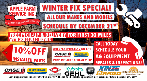 Winter fix inspection special